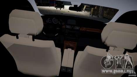 Carro Mercedes E-Class para GTA 4 vista interior