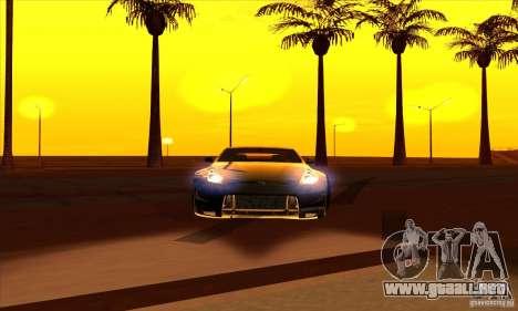 Nissan 370z Drift Edition para GTA San Andreas vista posterior izquierda