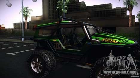 Tiger 4x4 para GTA San Andreas vista posterior izquierda