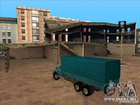 ZIL-133GÂ para GTA San Andreas vista hacia atrás