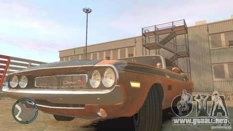 Dodge Challenger R T Hemi 1970 para GTA 4 visión correcta