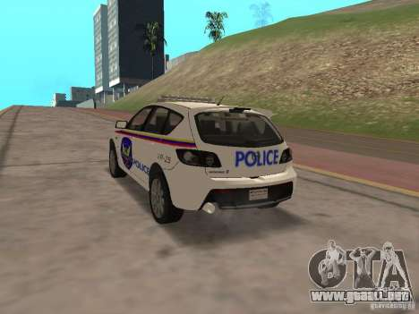 Mazda 3 Police para GTA San Andreas left