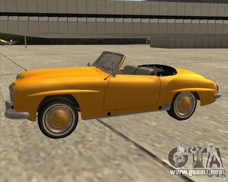 Mercedes Benz 190SL 1960 para la visión correcta GTA San Andreas