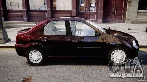 Dacia Logan 2007 Prestige 1.6 para GTA 4 vista superior