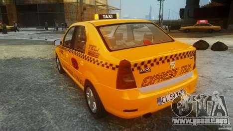 Dacia Logan Facelift Taxi para GTA 4 Vista posterior izquierda