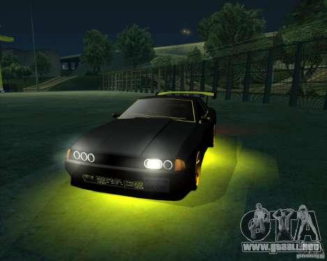 NEON mod para GTA San Andreas quinta pantalla
