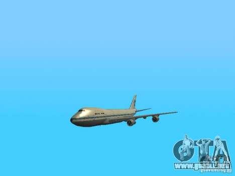 Boeing 747-100 Pan American Airways para visión interna GTA San Andreas