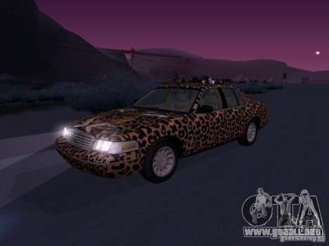 Ford Crown Victoria para visión interna GTA San Andreas