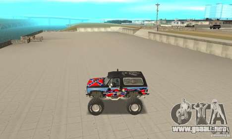 Chevrolet Blazer K5 Monster Skin 1 para GTA San Andreas left