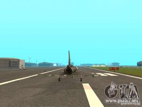 Saab JA-37 Viggen para GTA San Andreas vista hacia atrás
