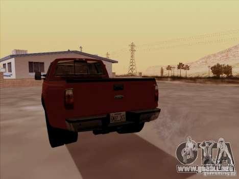 Ford  F350 Super Duty para la visión correcta GTA San Andreas