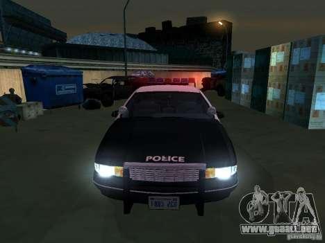 Chevrolet Caprice Police para GTA San Andreas vista hacia atrás