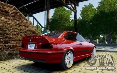 BMW M3 E36 v1.0 para GTA 4 vista hacia atrás