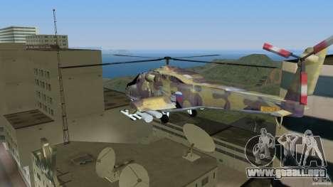 Mi-24 HindB para GTA Vice City left