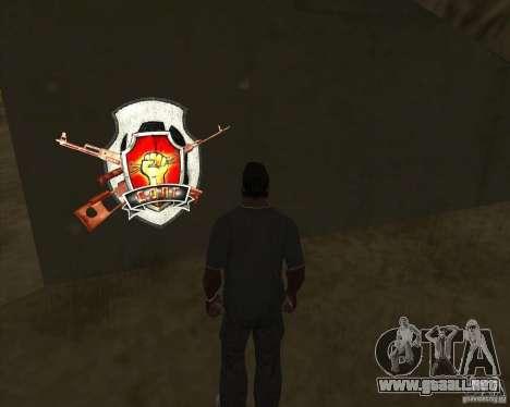 Graffiti stalkers para GTA San Andreas tercera pantalla
