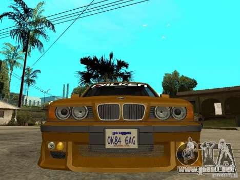 BMW e34 Drift Body para la visión correcta GTA San Andreas