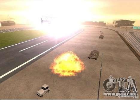 Nuevos efectos de explosiones para GTA San Andreas sucesivamente de pantalla