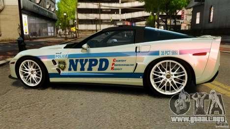 Chevrolet Corvette ZR1 Police para GTA 4 left