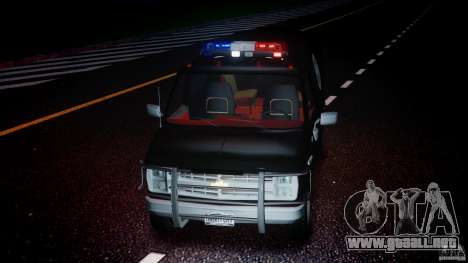 Chevrolet G20 Police Van [ELS] para GTA 4 vista superior