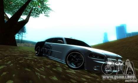 Dodge Charger SRT8 Mopar para GTA San Andreas vista posterior izquierda