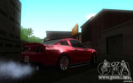 Ford Mustang GT V6 2011 para GTA San Andreas vista posterior izquierda