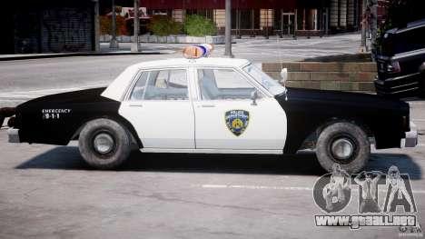 Chevrolet Impala Police 1983 [Final] para GTA 4 Vista posterior izquierda