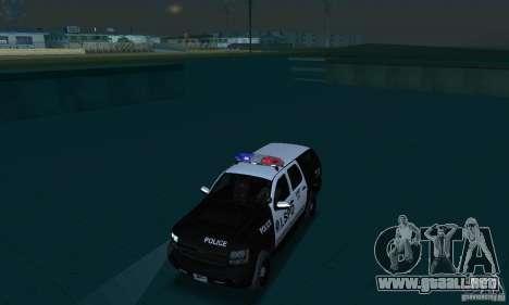 Chevrolet Suburban 2007 LSPD para visión interna GTA San Andreas