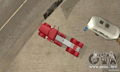 Peterbilt Coupe para GTA San Andreas vista hacia atrás