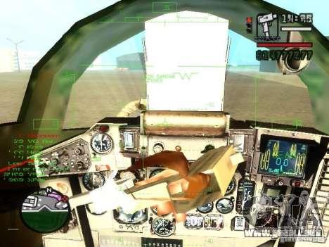 MIG 29 OVT para vista lateral GTA San Andreas