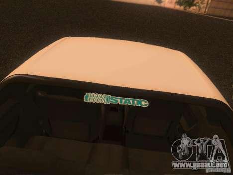 Nissan Skyline GTS R32 JDM para visión interna GTA San Andreas