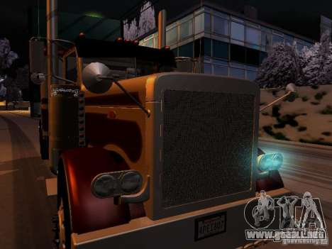 Peterbilt 389 Custom 2009 para visión interna GTA San Andreas