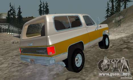 Chevrolet Blazer 1979 para GTA San Andreas left
