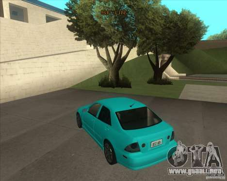 Lexus IS300 tuning para GTA San Andreas left