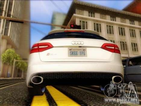 Audi RS4 Avant B8 2013 para la visión correcta GTA San Andreas