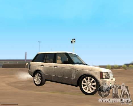 Land Rover Range Rover Supercharged 2008 para GTA San Andreas left