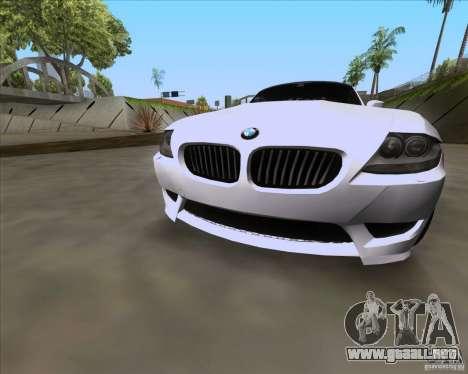 BMW Z4 M Coupe para la visión correcta GTA San Andreas