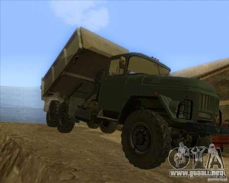 ZIL 131 camión para GTA San Andreas left