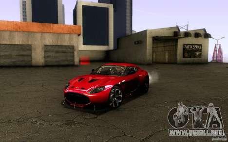 Aston Martin Zagato V12 V1.0 para visión interna GTA San Andreas