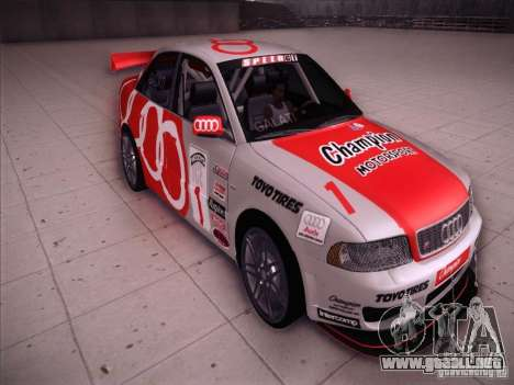 Audi S4 Galati Race para GTA San Andreas vista hacia atrás