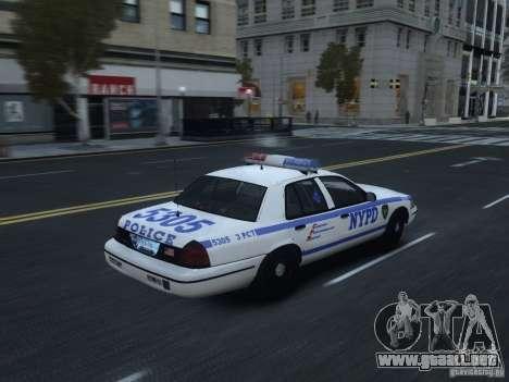 Ford Crown Victoria NYPD 2012 para GTA 4 visión correcta