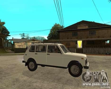 Vaz 2131 Niva para la visión correcta GTA San Andreas