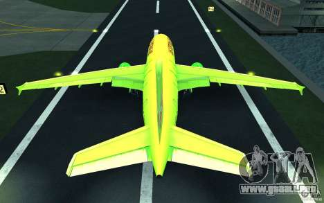 Airbus A310 S7 Airlines para vista inferior GTA San Andreas