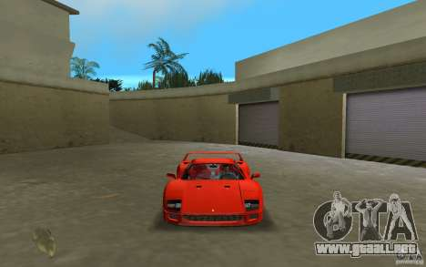 Ferrari F40 para GTA Vice City visión correcta