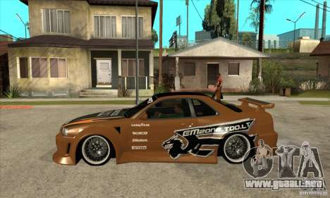 Nissan Skyline GTR - EMzone B-day Car para GTA San Andreas left