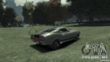 Ford Shelby GT500 Eleanor para GTA 4 Vista posterior izquierda