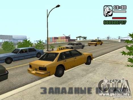 Tiempo real para GTA San Andreas tercera pantalla