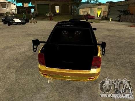 Lada 2170 Priora GOLD para visión interna GTA San Andreas