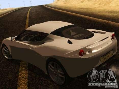 Lotus Evora para la visión correcta GTA San Andreas