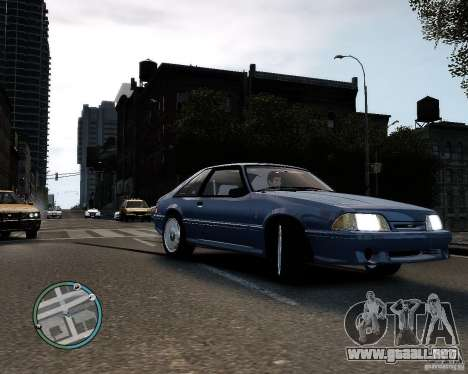 Ford Mustang SVT Cobra R 1993 para GTA 4 left