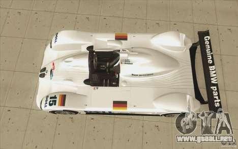BMW V12 LeMans - Stock para la visión correcta GTA San Andreas